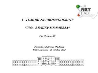 """I   TUMORI NEUROENDOCRINI: """"UNA  REALTA' SOMMERSA""""  Lia Ceccarelli"""