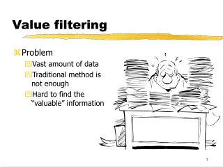 Value filtering