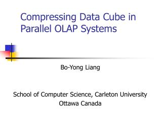 Compressing Data Cube in Parallel OLAP Systems