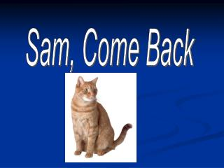 Sam, Come Back