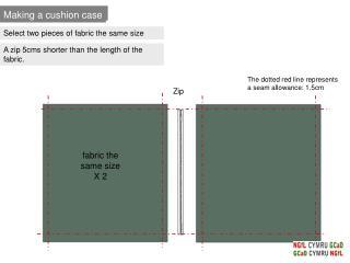 Making a cushion case