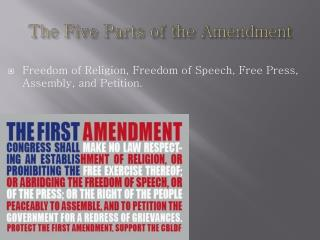 The Five Parts of the Amendment