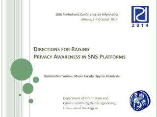 Directions for  Raising  Privacy  Awareness  in SNS  Platforms