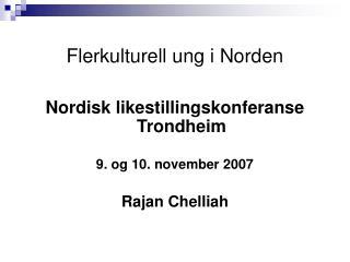 Flerkulturell ung i Norden