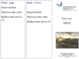 Third   page Insert txt here Select no line color Reduce font size to 12