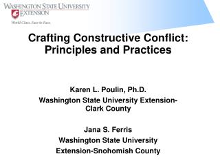 Crafting Constructive Conflict: Principles and Practices