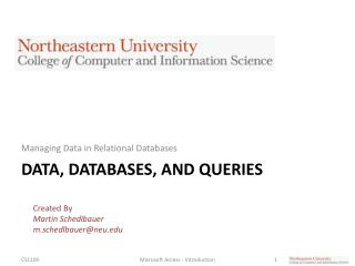Data, Databases, and Queries