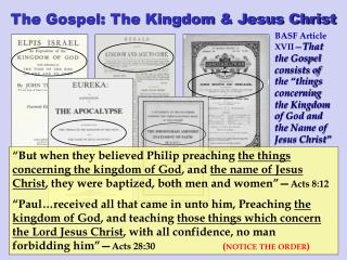 The Gospel: The Kingdom & Jesus Christ
