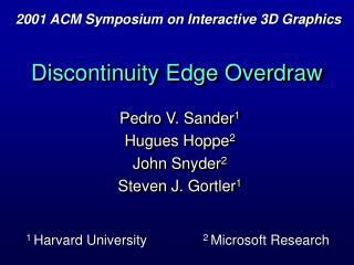 Discontinuity Edge Overdraw