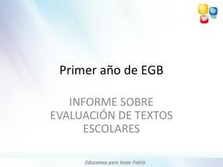 Primer año de EGB