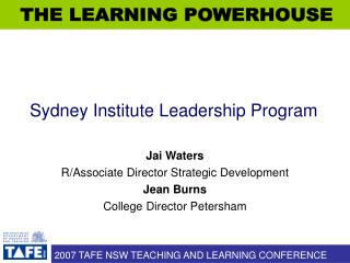 Sydney Institute Leadership Program