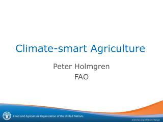 Climate-smart Agriculture