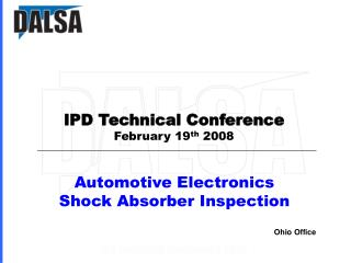 Automotive Electronics Shock Absorber Inspection