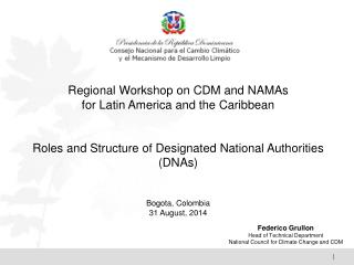 Regional Workshop  on CDM and NAMAs  for  Latin America and the Caribbean