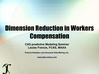 Dimension Reduction in Workers Compensation