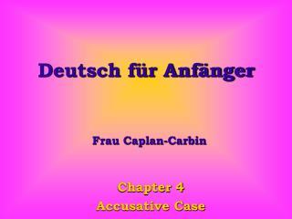 Deutsch für Anfänger