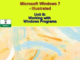 Microsoft Windows 7  - Illustrated