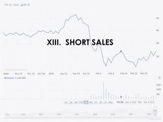 XIII.  SHORT SALES