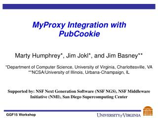 MyProxy Integration with PubCookie