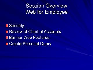 Session Overview Web for Employee