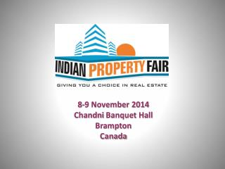 8-9 November 2014 Chandni  Banquet Hall Brampton Canada