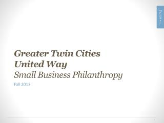 Greater Twin Cities  United Way Small Business Philanthropy