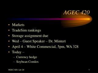 AGEC 420