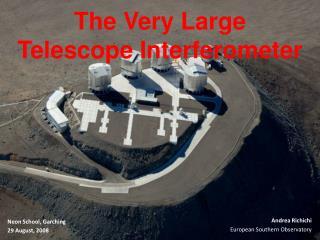 The Very Large Telescope Interferometer