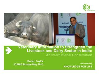 Veterinary Information to Strengthen the Livestock and Dairy Sector in India: