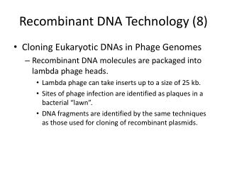 Recombinant DNA Technology (8)