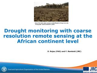 Drought monitoring with coarse resolution remote sensing at the African continent level