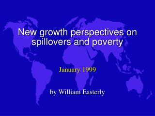 New growth perspectives on spillovers and poverty