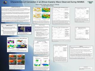 Characteristics of Convection in an African Easterly Wave Observed During NAMMA  Robert Cifelli, Timothy Lang, Steven A.
