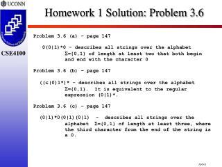 Homework 1 Solution: Problem 3.6