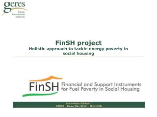 FinSH project Holistic approach to tackle energy poverty in social housing