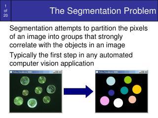 The Segmentation Problem