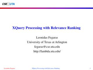 XQuery Processing with Relevance Ranking