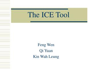 The ICE Tool