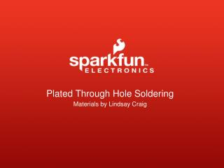 Plated  Through Hole  Soldering
