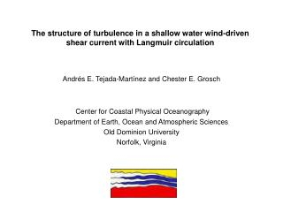 The structure of turbulence in a shallow water wind-driven shear current with Langmuir circulation