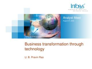 Business transformation through technology
