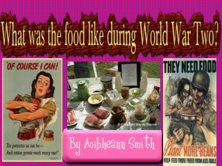 Wartime shopping