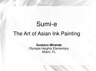 Sumi-e  The Art of Asian Ink Painting
