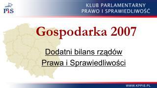 Gospodarka 2007