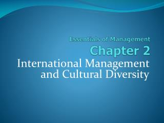 Essentials of Management Chapter  2