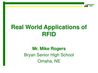 Real World Applications of RFID