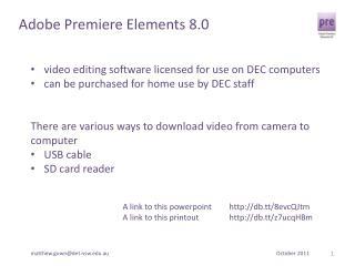 Adobe Premiere Elements 8.0