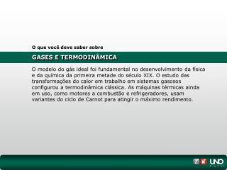 GASES E TERMODINÂMICA