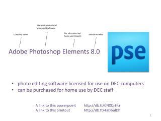 Adobe Photoshop Elements  8.0