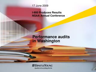 Performance audits  in Washington